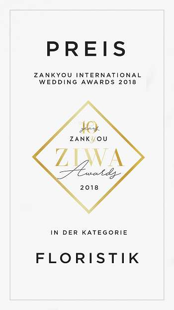 Zankyou International Wedding Awards 2018 für Die Kathe